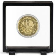 2 Magic Floating Frame 3d Capsule Coin Holder Stamps Minerals Display Miniature