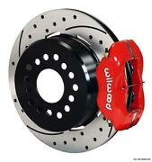 Wilwood Rear Disc Brake Kit Big Ford New Style 9 W/ 2.5 Offset Drill Stagg Red