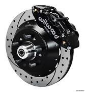 Wilwood 64-72 Chevelle A-body Front Disc Big Brake Kit 14 Drilled Rotor Black