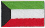 Small Kuwait Flag Iron On Patch 2.5 X 1.5 Inch