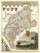 Cumberland Antique Hand-coloured County Map By Thomas Moule C1840 Old