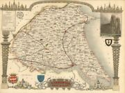 Yorkshire East Riding Antique Hand-coloured County Map By Thomas Moule C1840