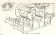 Factories. Printing. Applegath And Cowper's Machine. Tapes 1880 Old