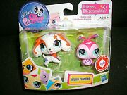 Littlest Pet Shop Totally Talented Cocker Spaniel 2688 And Ladybug 2689 New
