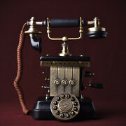 1923 King Classic Metal Retro Antique Phone Vintage Rotary Dial Telephone F064