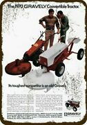 1970 Gravely Convertible Tractor And Mower Vntg-look Decorative Replica Metal Sign