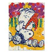 Tom Everhartand039s Who Placed The Wake Up Call Snoopy Linus Le Lithograph Sold Out