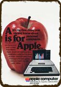 1978 Apple Ii Personal Computer Vintage Look Replica Metal Sign - A Is For Apple