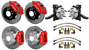Wilwood Disc Brake Kit And Drop Spindles,63-70 Chevy C10,gmc C15,12 Rotors,red