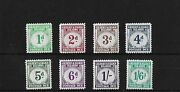 Gilbert And Ellice 1940 Postage Due Set Lightly Mounted Mint Sgd1/8 Cat Andpound180