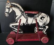 Antique Tom Mix And Tony Ride On Horse Made In 1935 Rare
