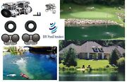 New Large Lake And Pond Aerator Aeration Kit W/ 4-10 Diffusers 300'tube 1-4+acres