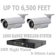 Long Range Wireless Security Cameras Video Up To 6500 Feet Cctv System + Nvr