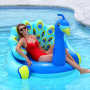 Swimline Giant Peacock Lounger Swimming Pool Inflatable Animal Ride On Float
