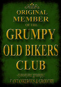 Grumpy Old Bikers Club Advertising Vintage Retro Signs Repro Wall Art