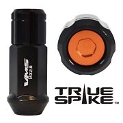 32 True Spike 14x2.0 Steel Lug Nuts Orange Capped Closed End Ford Excursion