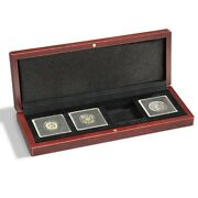 Wood Coin Display Storage Case Box For 4 2x2 Snaplock Quadrums Safe Depotit Gift