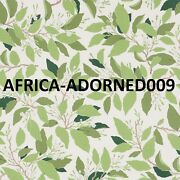 Schumacher Southern Charm Dogwood And Leaves Fabric 10 Yards Ivory Multi