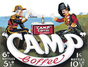 Camp Coffee - Vintage Metal Wall Sign 3 Sizes - Small / Large And Jumbo