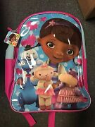 Disney Junior Doc Mcstuffins Backpack Toys Doctor School Chilly Lambie Hallie