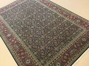 6and039.1 X 9and039.0 Navy Blue Red Super Herati Oriental Rug Hand Knotted Wool