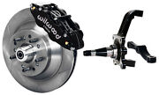 Wilwood Disc Brake Kitfrontwith Wwe Prospindles13 Rotorsblack Caliperspads