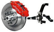 Wilwood Disc Brake Kitfrontwith Wwe Prospindles13 Rotorsred Caliperspads+