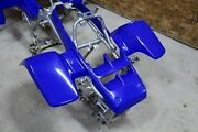 New Factory Oem 1987-2006 Yamaha Banshee Fenders Plastic Body Blue Front Only