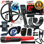 Xp Deus Metal Detector W/ Mi-6 Pinpointer, Backphone, Remote, X35 Coil And More