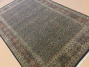 5and039.10 X 9and039.4 Navy Blue Rust Very Fine Oriental Area Rug Hand Knotted Wool
