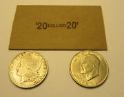25 Coin Wrappers For Morgan Peace Eisenhower Ike Silver Dollar Coins Paper