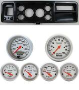 73-79 Ford Truck Carbon Dash Carrier W/ Auto Meter Ultra-lite Electric Gauges