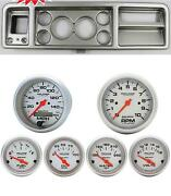 73-79 Ford Truck Silver Dash Carrier W/ Auto Meter Ultra-lite Electric Gauges