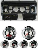 80-86 Ford Truck Carbon Dash Carrier W/ Auto Meter 3-3/8 American Muscle Gauges