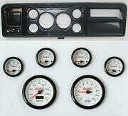 73-79 Ford Truck Carbon Dash Carrier W/ 3-3/8 Concourse Series White Gauges