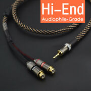Stereo 3.5mm 1/8 Male Plug To 2 Female Rca Jack Audio Adapter Y Splitter Cable