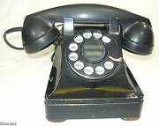 Vintage Bell System Western Electric Rotary Dial Telephone Black Desk Phone
