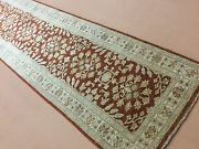 2and039.7 X 21and039.1 Rust Beige Oriental Rug Long Runner Fine Ziegler Hand Knotted Wool