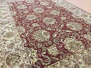 6and039.1 X 9and039.1 Red Beige Floral Arga Oriental Area Rug Hand Knotted Wool All-over