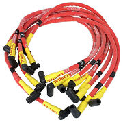 S/b Chevy Under Header Style Sleeved Spark Plug Wire Set- 90 Degree Boots 1579
