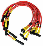 S/b Chevy Under Header Style Sleeved Spark Plug Wire Set- Straight Boots 1580