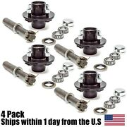 4 Trailer Axle Kit 2000 Lbs 4 On 4 Idler Hubs Round Spindles