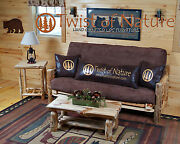 Rustic Log Futon Available In 3 Sizes Love Seat, Full And Queen
