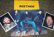 Seether Autographed Photo And Photos- Real Collectible
