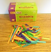 1000 Chenille Colored Wood Popsicle Craft Sticks 4-1/2 X 3/8 Parrot Bird Toys