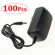 100 Pcs Ac 100-240v To Dc 12v 2a Wall Charger Power Supply 5.5x2.1mm Wholesale