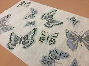 5and039.11 X 9and039.1 Silver Green Modern Butterfly Oriental Rug Hand Knotted Wool