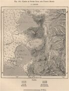 Lakes Of South Chile And Puerto Montt. Chile 1885 Old Antique Map Plan Chart