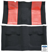 1971-73 Ford Mustang Mach I W/red Running Pony Inserts Nylon Replacement Carpet