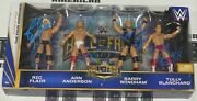Ric Flair Arn Anderson Tully Blanchard + Signed Wwe 4 Horsemen Action Figure Set